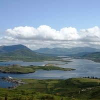 view from the top of geokaun mountain on valentia island