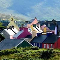 Colourful house of Beara peninsula village