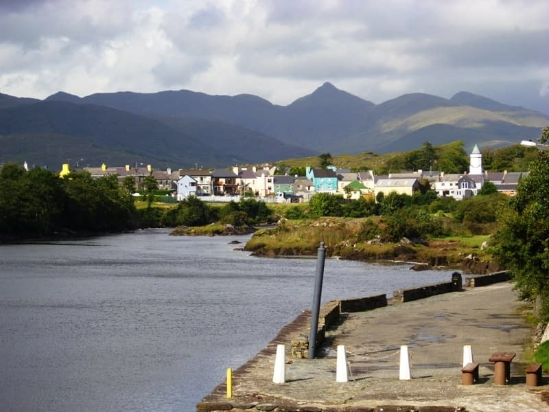 View of Sneem Village from the pier