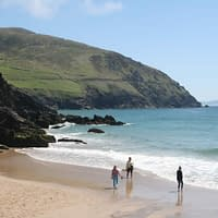 one of the stunning beaches along slea head on dingle