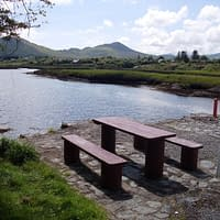 Picnic area overlooking the Sneem River estuary