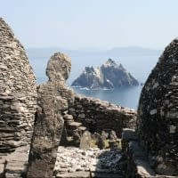 Looking out to Little Skellig from Skellig Michael