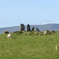 Stone row near Waterville on the Ring of Kerry